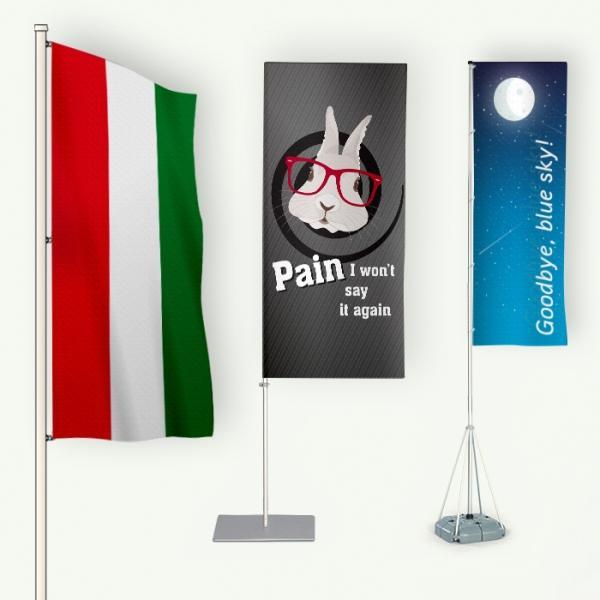 Megbízható minőségű zászlórúd